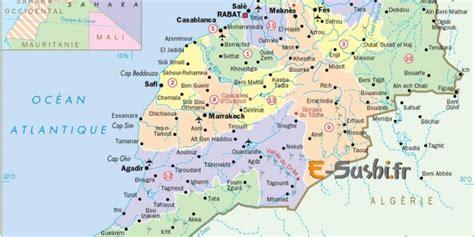Carte Du Maroc Avec Les Principales Villes by Infos Sur Carte Du Maroc Detaillee Arts Et Voyages