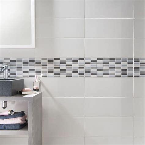 carrelage mural melotti blanc 20 x 50 cm castorama salle de bain peintures murales