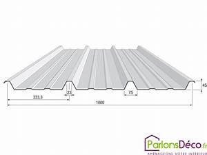 Bac Acier Isolé Prix : largeur bac acier rev tements modernes du toit ~ Dailycaller-alerts.com Idées de Décoration