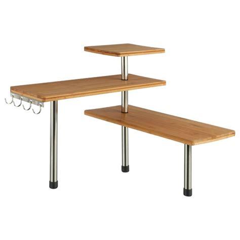 table de cuisine d angle etag 232 re d angle cuisine quot bambou quot naturel