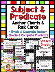 Subject And Predicate Task Cards And Anchor Charts