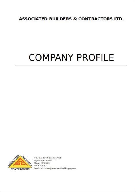 simple company profile templates