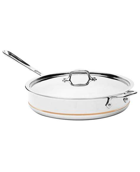 clad copper core  qt covered saute pan reviews cookware kitchen macys