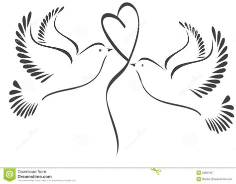doves  heart royalty  stock photography image