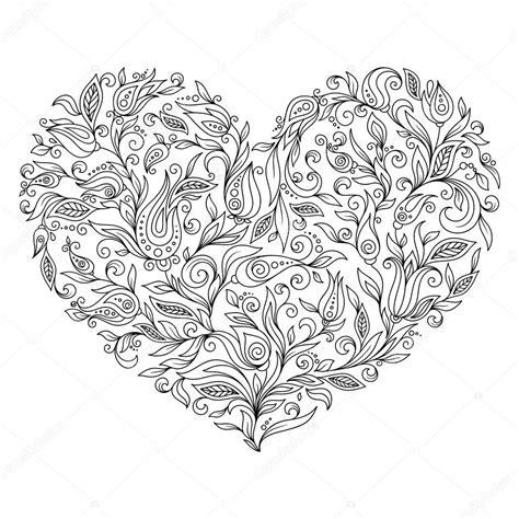 disegni da colorare cuore fiore pagina giorno  san