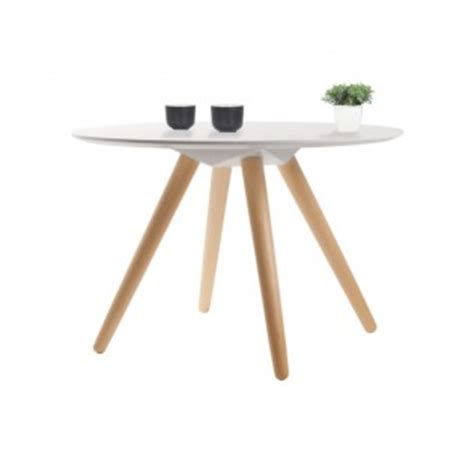 table basse ronde blanche pas cher collection scandinave les collections