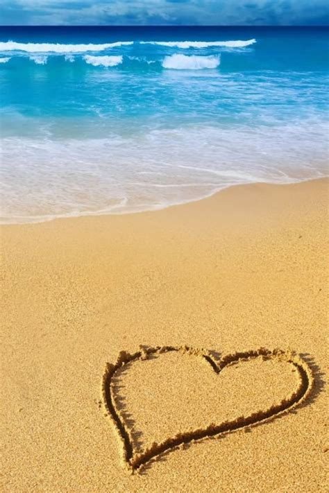 love heart beach amazing world pinterest beach