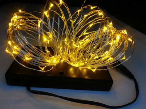 indoor 8 aa battery powered10m 100 led silver wire string