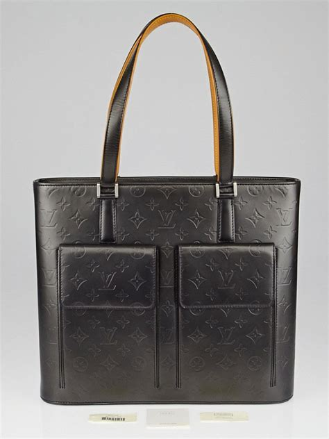 louis vuitton black monogram mat willwood tote bag yoogi