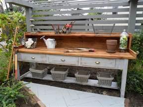 garden workbench outdoorsy pins pinterest gardens