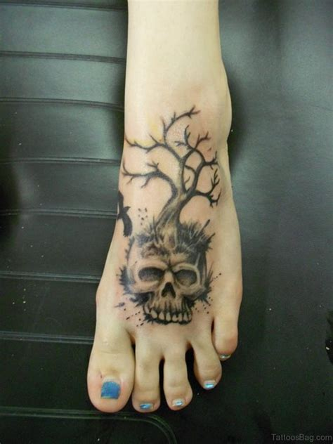 magnificent skull tattoos  foot
