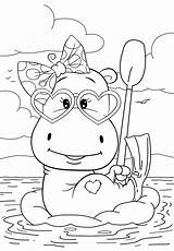 Coloring Pages Hippo Cuties Resting Cute Animal Preschool Bojanke Bontontv Bonton Disney Slatkice Print Tv Books Colouring Printable Sheets Printables sketch template