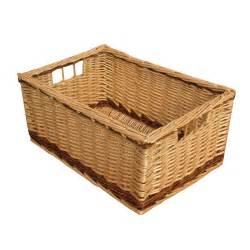 kitchen furniture shopping buy melbury rectangular wicker storage basket from the