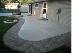 Concrete Patio with Stamped Edges Buchheit Construction