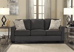 Alenya Charcoal Queen Sleeper Sofa Louisville Overstock