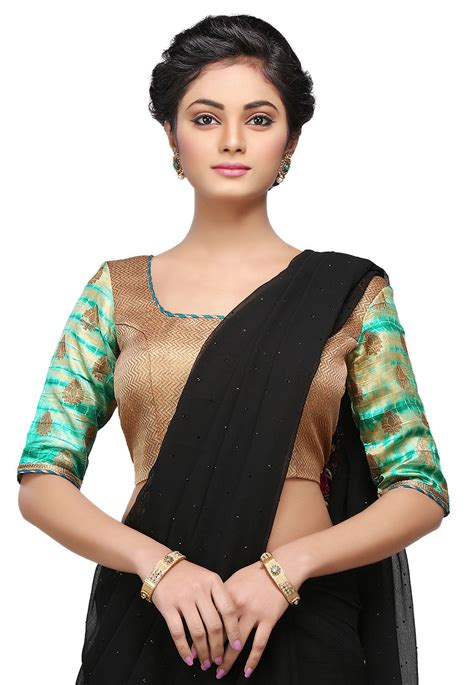 tie dye blouse tie n dye silk blouse in golden and teal green uam69