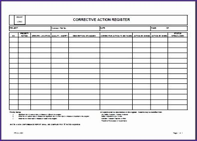 8D Report Template Xls