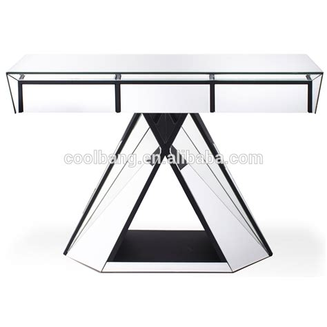 long mirrored console table coolbang cbm073 luxury bello long glass modem mirrored