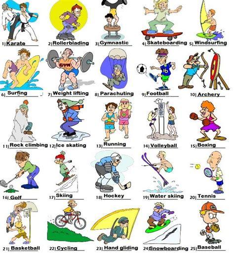 outdoor activities vocabulary  english eslbuzz