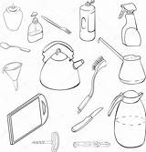 Wok Pans Pots Coloring Template Linear Pages Sketch sketch template