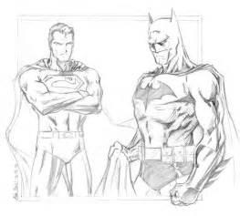 Batman vs Superman Sketch Drawing