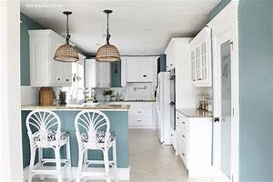 aegean teal favorite paint colors blog With kitchen colors with white cabinets with woven basket wall art