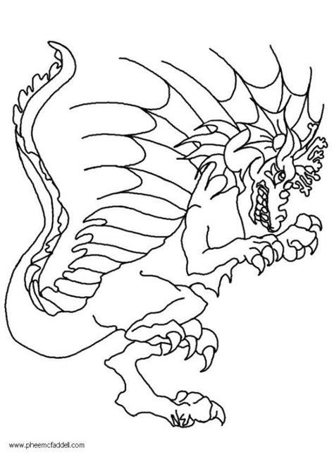 Disegno da colorare Wart, il drago - Cat. 12265.