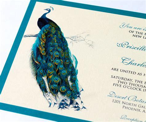 peacock wedding invitations priscilla peacock wedding invitation sle ivory ecru
