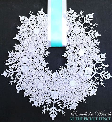 snowflake wreath ideas  pinterest diy
