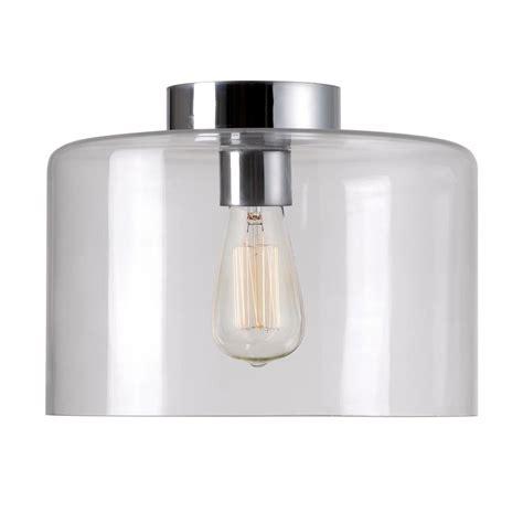 kenroy home capri 1 light chrome flush 91836clr