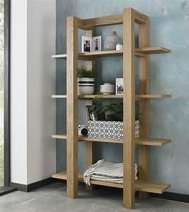 Turin, Light, Oak, Open, Shelf, Unit