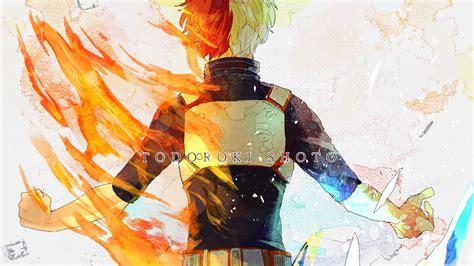 My Hero Academia Wallpaper 1920x1080 Shouto Todoroki Flame My Hero Academ Wallpaper 35543