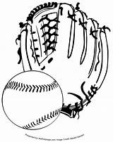 Baseball Clipart Printable Glove Pages Coloring Sheets Clip Cliparts Attribution Forget Link Don Library Colouring sketch template