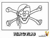 Pirate Coloring Flag Skull Pirates Costume Scurvy Boys Yescoloring sketch template