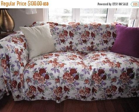 sale floral sofa throw cover couchcoverletlarge
