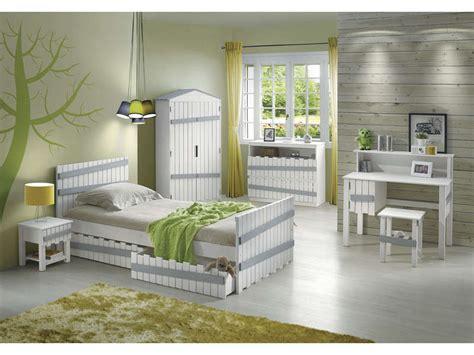Lit 90x200 Cm Amazone Coloris Blanc Et Gris