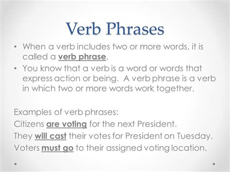 Verb Phrases, Main Verb, And Helping Verbs  Ppt Video Online Download