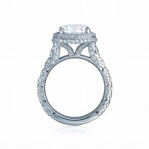 tacori engagement rings royalt cushion halo setting With tacori wedding ring