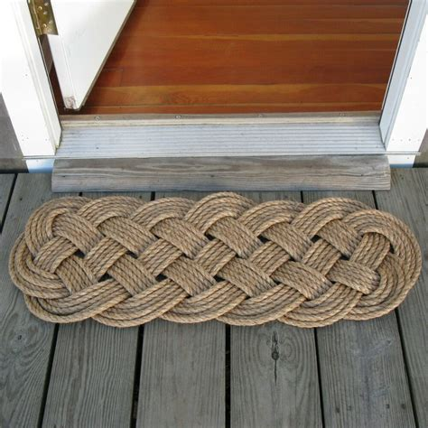 rope doormats mystic knotwork manila rope woven door mat rug prolonged
