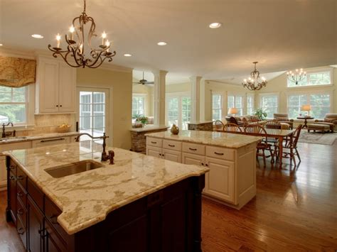 Decorating Ideas For Open Living Room And Kitchen - open concept kitchen and living room open kitchen into living room designing small houses