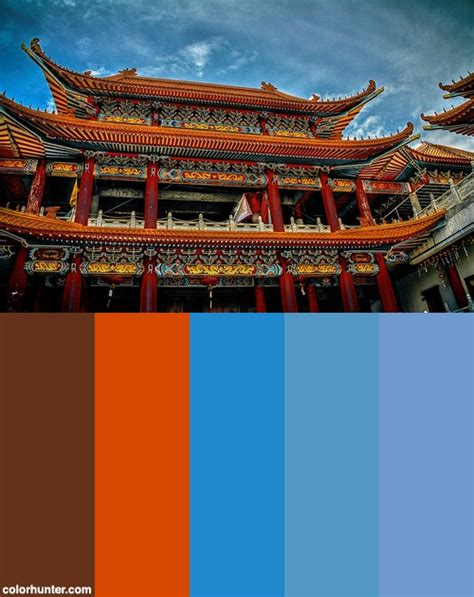 temple vibrance color scheme china in 2019