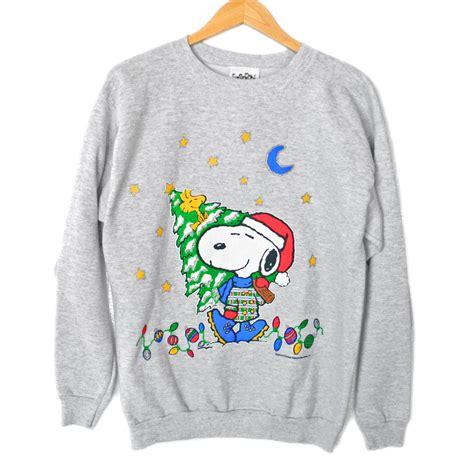 snoopy sweater peanuts quot santa snoopy quot tacky sweatshirt