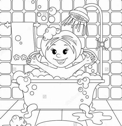 Coloring Shower Pages Colouring Template Twin