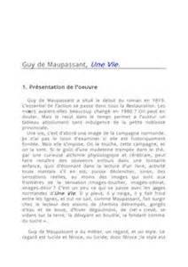 Une Vie Maupassant Résumé by Une Vie De Maupassant Le R 233 Sum 233 Du Roman