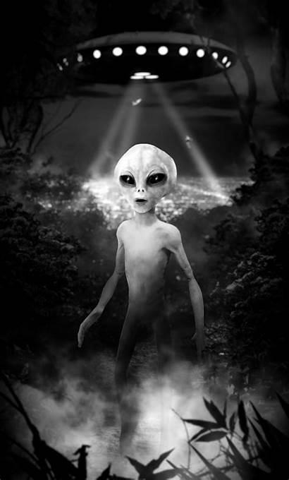 Alien Grey Landing Aliens Gray Greys Ufo