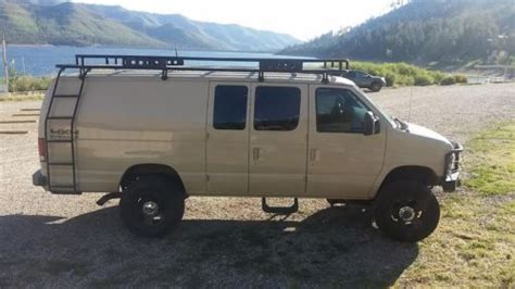 Buy used 1999 Ford E 350 4x4 7.3 diesel , custom van