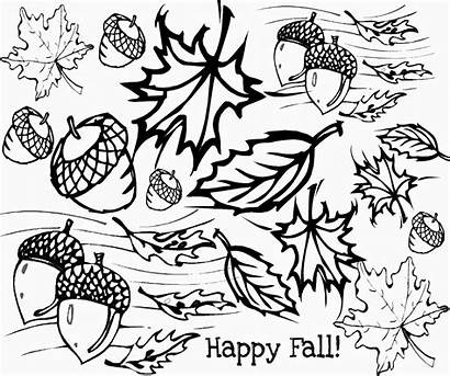 Coloring Fall Pages Printable Autumn Leaves Crayola