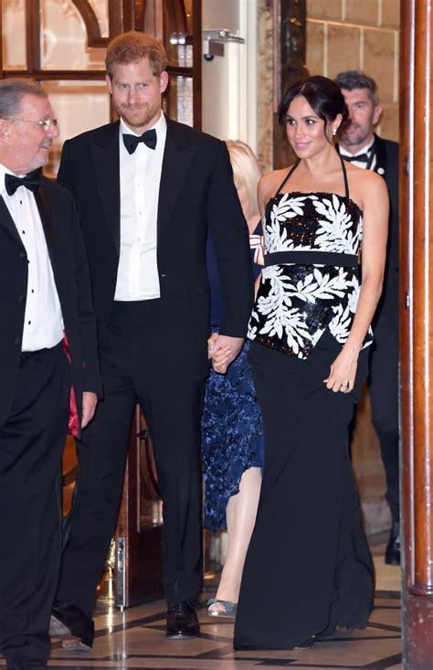 Prince Harry and Meghan Markle at Royal Variety ...