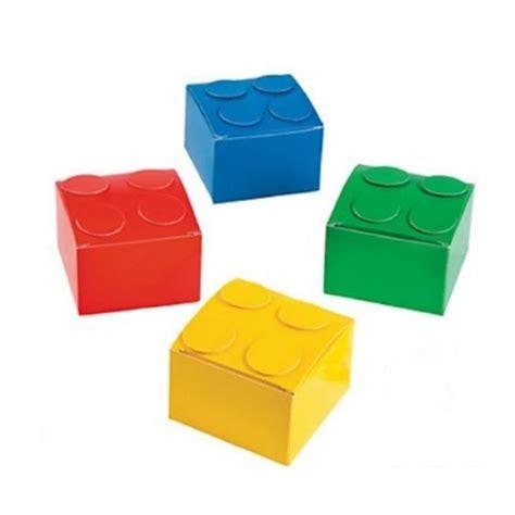 brick block lego inspired favor boxes   kids