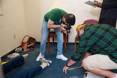 Crime Scene Criminal Mock Investigation Students Process
